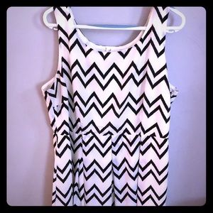 ModCloth Chevron Dress- Super Cute Size 1X